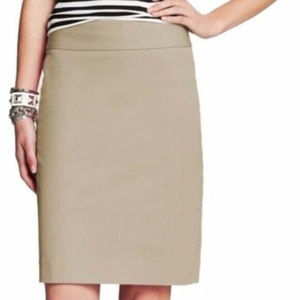 Banana Republic Tan Sloan Pencil Skirt 8 Career